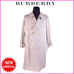 バーバリー BURBERRY コート ダブル メンズ ロング丈 トレンチ ライトベージュ C/100%激安 人気