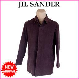 ジルサンダー JIL SANDER コート シングル ハーフ丈 メンズ ♯R46サイズ ステンカラー ダークブラ