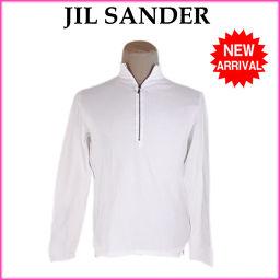 ジルサンダー JIL SANDER カットソー 長袖 メンズ スタンドカラー ジップデザイン ホワイト×ブラック