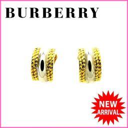 バーバリー BURBERRY イヤリング ゴールド 人気 美品[中古]J5506