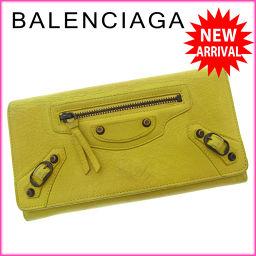 バレンシアガ BALENCIAGA 長財布 ファスナー 二つ折り メンズ可 クラシックマネー イエロー×ブロンズ