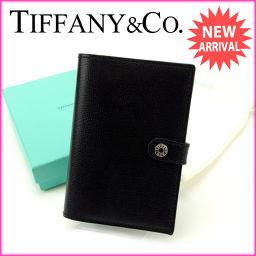 ティファニー Tiffany&Co. パスポートカバー メンズ可 ブラック×ブルー レザー新品 未使用【中古】