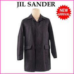 ジルサンダー JIL SANDER コート 中綿入り ロング丈 メンズ ♯44サイズ シングル ステンカラー ブ