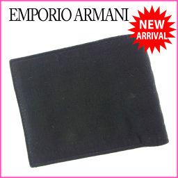 エンポリオアルマーニ EMPORIO ARMANI 二つ折り財布 コンパクトサイズ メンズ ロゴ ブラック キャ