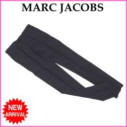 マークジェイコブス MARC JACOBS パンツ スラックス レディース ♯44サイズ スキニー センタープレス ブラック W/93%CASHMERE/7%(裏地)CP/100% (あす楽対応)未使用 【中古】 L461 .