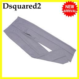 ディースクエアード パンツ スラックス メンズ ♯40サイズ グレー W/95%PU/5%(裏地)RY/65%PE/35% (あす楽対応)超美品 【中古】 L648 .