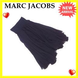マークジェイコブス MARC JACOBS スカート フリル ロング レディース ♯6サイズ シフォン ブラック 絹/100%(その他)綿/95%ポリウレタン/5% (あす楽対応)美品 即納【中古】 L874 .