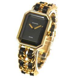 CHANEL(シャネル) プルミエール レディースウォッチ 腕時計 Mサイズ ゴールド/A20544【中古】