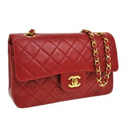 CHANEL (Chanel) Double Flap Matrasse Chain Shoulder Bag Red / SN00965 【Used】