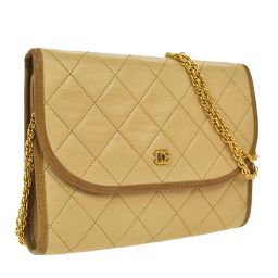 CHANEL (Chanel) Matrasse chain shoulder bag beige / SN01049 [pre]