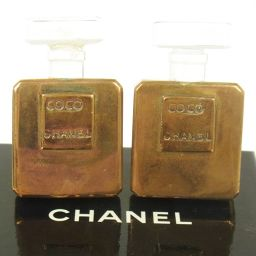 CHANEL (Chanel) perfume bottle motif earrings gold / T02432