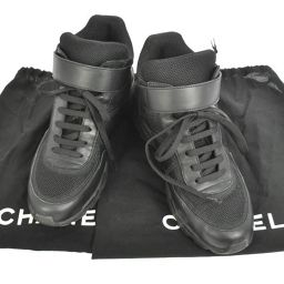 CHANEL (Chanel) High cut sneaker # 37 black / T 02458