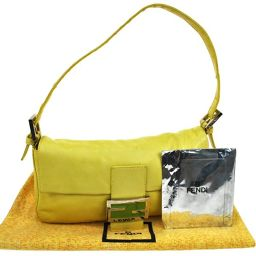 FENDI (Fendi) Mumma Bucket Shoulder Bag Yellow / T02533