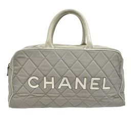 CHANEL (Chanel) sports line Boston bag gray / T02574