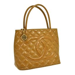 CHANEL (Chanel) Reprint Tote Matrasse Shoulder Tote Bag Beige / T02607 [pre]