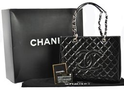 CHANEL (Chanel) Matrasse chain hand Black enamel / beauty item W03430 /