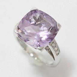 MAUBOUSSINZ(モーブッサン) グールダムールリング アメシスト ダイヤモンド 10.5号 18金ホワイトゴールド(K18WG)