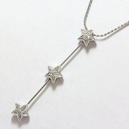 CHIMENTO(キメント) ネックレス 星 スター ダイヤモンド 18金ホワイトゴールド(K18WG) 【中古】ブランド ジュエリー