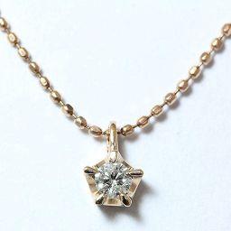MICHEL KLEIN(ミッシェル・クラン) ネックレス 一粒石 ダイヤモンド 0.07ct 10金ピンクゴールド(K10PG)