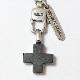 EMPORIO ARMANI(エンポリオ アルマーニ) ネックレス チョーカー クロス 十字架 シルバー(SV925) 【中古】 ジュエリー