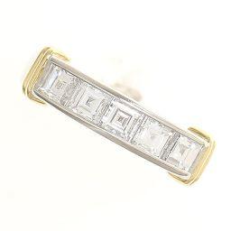スクエアカット ダイヤモンド 計1.28ct リング 9.5号 18金イエローゴールド(K18YG)/プラチナ(Pt900)