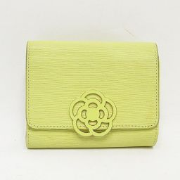 【大幅値下げ!!】CLATHAS(クレイサス) 三つ折り財布 黄色 イエロー / 【ブランドバッグ】【中古】nb