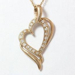 Samantha Tiara(サマンサティアラ) ネックレス ハート ダイヤモンド 計0.18ct 18金ピンクゴールド(K18PG)