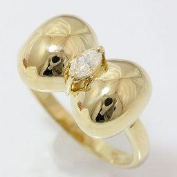 pierre cardin(ピエールカルダン) リング リボン ダイヤモンド 11.5号 18金イエローゴールド(K18YG) 【中古】ブランド