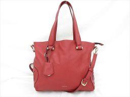 CLATHAS(クレイサス) 2WAYバッグ/トートバッグ/ロングショルダーバッグ 斜め掛け 赤 レッド / 【ブランドバッグ】