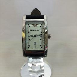 エンポリオ アルマーニ EMPORIO ARMANI 腕時計 クオーツ メンズ 白 ステンレススチール(SS) クオーツ メンズ