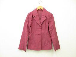 TRUSSARDI(トラサルディ) レディース コットンセットアップ ジャケット パンツ 長袖 40 ボルドー 赤紫 綿 98%