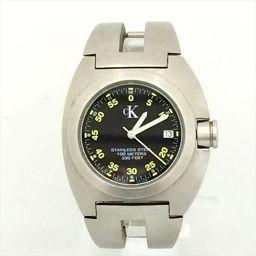 カルバンクライン ブラック ステンレススチール(SS) クォーツ メンズ 【中古】 腕時計 all shop