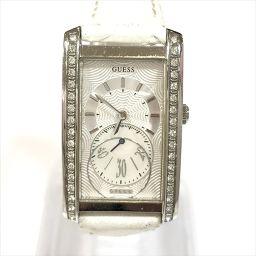 GUESS(ゲス) シェル 革ベルト 白 腕時計 195257L1 ステンレススチール クオーツ 【中古】 腕時計 all shop OB