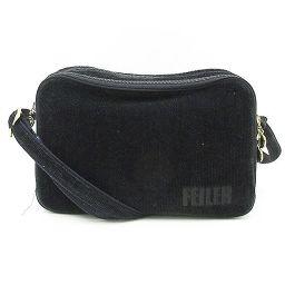 FEILER(フェイラー) ロングショルダーバッグ 斜め掛け 黒 ブラック / 【ブランドバッグ】【中古】nb