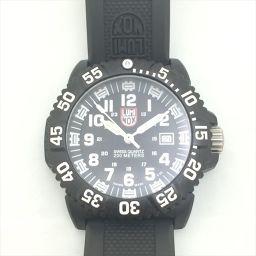 LUMINOX(ルミノックス) クォーツ腕時計 3050/3950 黒 ケース:カーボン素材 ベルト:ラバー素材 クォーツ 【中古】