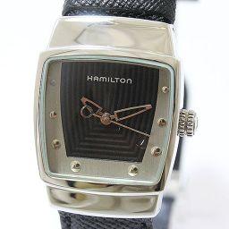 HAMILTON(ハミルトン) EverestMiniBraceletWatch 632927 黒文字盤 ブラック SS クオーツ 男女兼用 【中古】 腕時計