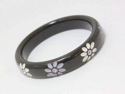 ABISTE(アビステ) バングル フラワー 白×紫 ホワイト×パープル プラスチック 【中古】 アクセサリー all shop