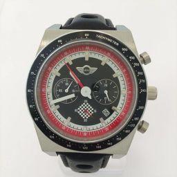 MINI(ミニ) 腕時計 クロノグラフ - 黒 白 赤 ステンレススチール(SS) クォーツ メンズ 【中古】 腕時計 all