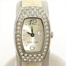 ミシェルクラン バンド劣化あり 腕時計 VC10-D019 シルバー ラインストーン クオーツ レディース 【中古】 腕時計