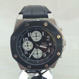 テクノス TECHNOS 時計 クオーツ メンズ T4393LB 未使用品 デイト表示 クロノグラフ T4393LB 黒 STANLESS