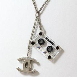 CHANEL(シャネル) ネックレス 04P 2004年 春夏 ココマーク カセットテープ シルバーメッキ 【中古】 ジュエリー