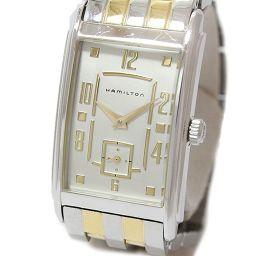 HAMILTON(ハミルトン) アードモア ユニセックス H11451153 白文字盤 SS×GP クオーツ 男女兼用 【中古】 腕時計