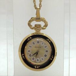エドックス  ゴールド×ホワイト クオーツ レディース 【中古】 腕時計 all shop og