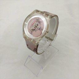 スウォッチ 時計 スケルトン ケース:プラスチック ベルト:ビニール クォーツ レディース 【中古】 腕時計 all shop