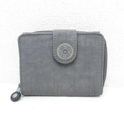 Kipling(キプリング) 二つ折り財布 グレー ナイロン/ 【ブランドバッグ】【中古】nb