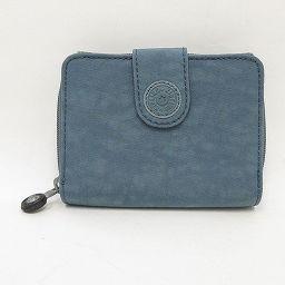 Kipling(キプリング) ラウンドファスナー 二つ折財布 グレー ナイロン/ 【ブランドバッグ】【中古】nb