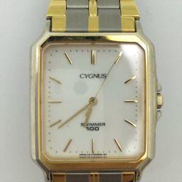 ORIENT(オリエント) CYGNUS(シグナス) ホワイト ステンレススチール(SS) クォーツ レディース 【中古】 腕時計 all