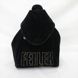 FEILER(フェイラー) 2WAYバッグ リュック ワンショルダーリュック 黒 ブラック コットン/ 【ブランドバッグ】