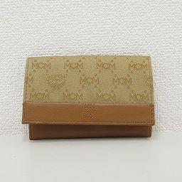 【大幅値下げ!!】MCM(エムシーエム) ロゴグラム 名刺入れ カードケース 茶 ブラウン レザー/ 【ブランドバッグ】