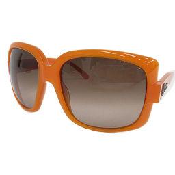 Christian Dior(クリスチャン・ディオール) ロゴ サングラス ブラウン×オレンジ プラスティック 【ブランド小物】